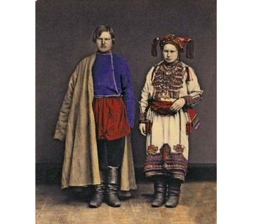 The Mordvins, one of the indigenous ethnicities composing modern-day Russians. Photo of 1872.