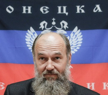 """Vladimir Makovich, so-called """"speaker of people's council of DNR"""" in 2014."""