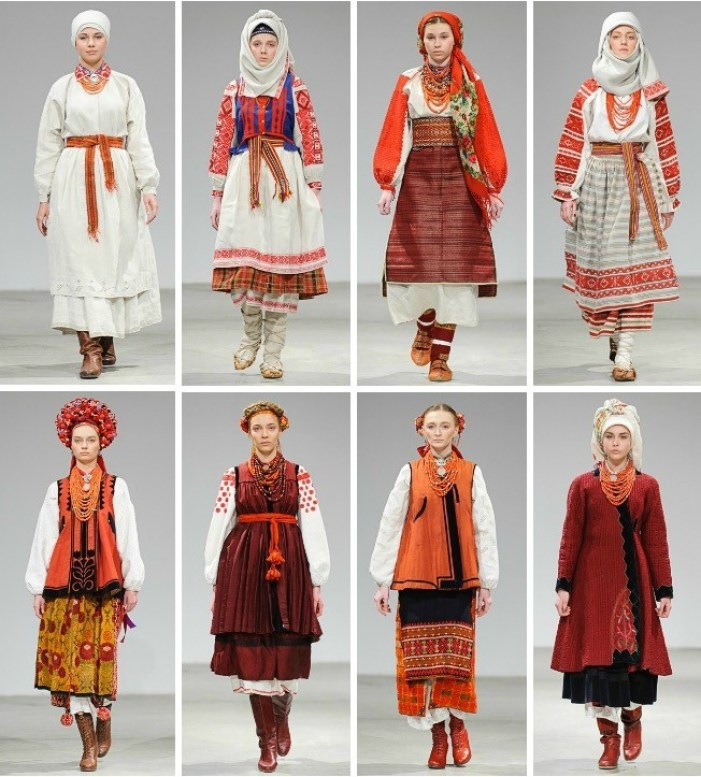 Photo: Bohdan Poshyvailo for Vytoky Project (modern Ukrainian designers inspired by traditional culture and a selection of historical costumes. Vytoky collaborates with museums and collectors such as the Centre for the History of Costume and the Ivan Honchar Museum)