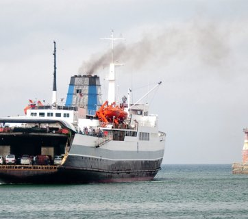 North Korean ferry in Vladivostok, Russia