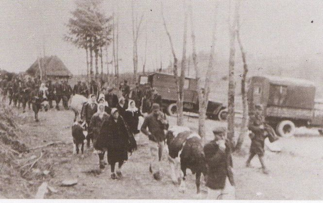 "During ""Operation Vistula,"" Ukrainians were expelled from their homes, being allowed to take minimal belongings."