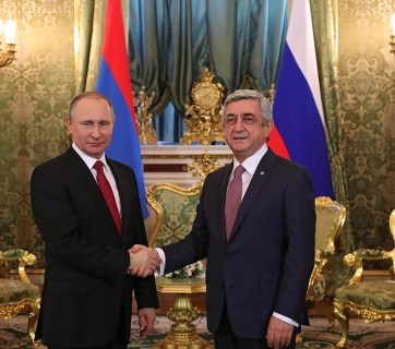 Vladimir Putin and President of Armenia Serzh Sargsyan in the Kremlin. March 15, 2017 года, Moscow, Russia (Image: kremlin.ru)