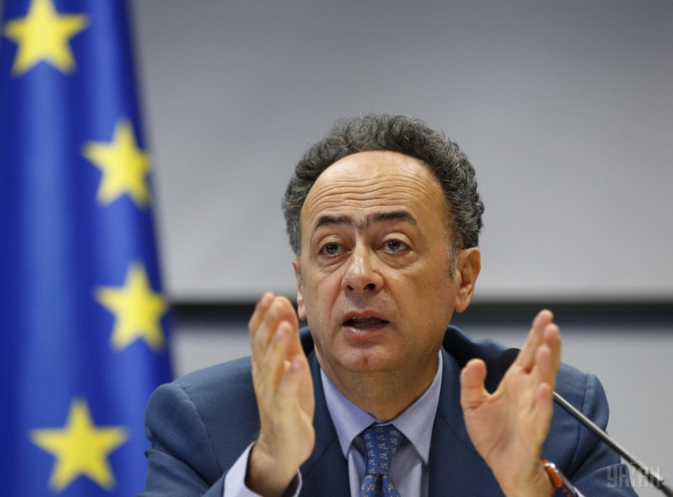 "Hugues Mingarelli: the EU regards the idea of issuing old non-biometric passports to citizens in the occupied territories as being ""counterproductive."" Photo: dnipronews.com.ua"