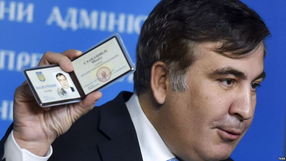 Kyiv, Ukraine. Mikheil Saakashvili, chairman of the Ukrainian Presidential Advisory Council on Reforms, at a briefing in Kyiv on 17 February 2015. Mykola Lazarenko/Ukrainian presidential press service/TASS