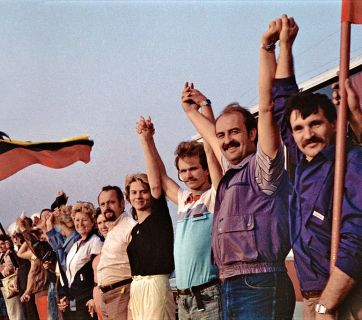 """The Baltic Way or Baltic Chain (also Chain of Freedom) was a peaceful political demonstration that occurred on 23 August 1989. Approximately two million people joined their hands to form a human chain spanning 675.5 km (419.7 mi) across the three Baltic states – Estonia, Latvia, and Lithuania, considered at the time to be constituent republics of the Soviet Union. The demonstration originated in """"Black Ribbon Day"""" protests held in the western cities in the 1980s. It marked the 50th anniversary of the Molotov–Ribbentrop Pact between the Soviet Union and Nazi Germany. The pact and its secret protocols divided Eastern Europe into spheres of influence and led to the occupation of the Baltic states in 1940. (Image and caption: Wikipedia)"""