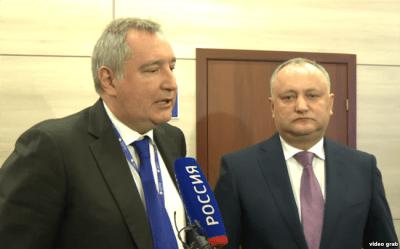 Dmytry Rogozin and President of Moldova Igor Dodon