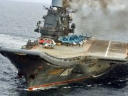 Russia's only aircraft carrier Admiral Kuznetsov on its way to Syria in October 2016 to participate in Putin's campaign to defend the dictatorial Assad regime. (Photo: social media)