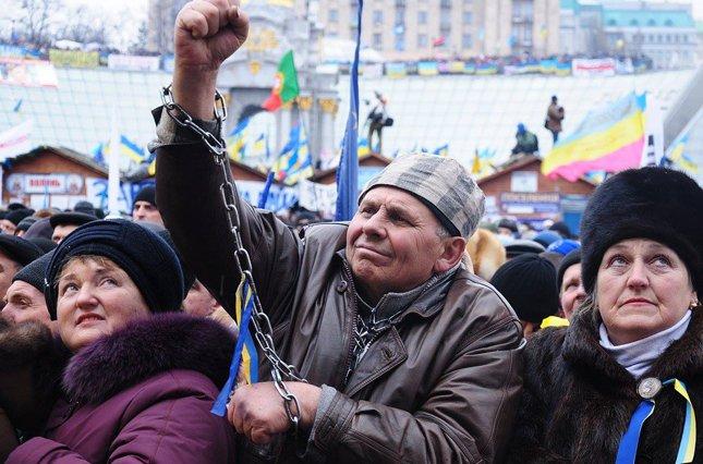 Euromaidan protesters. December 2013