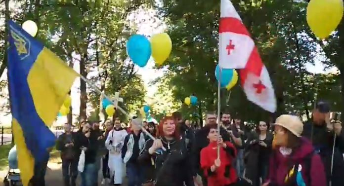 Participants of the march. Photo: snapshot from livestream