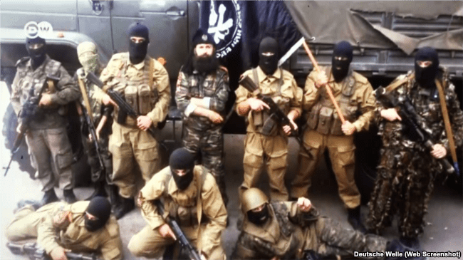 Serbian militants in Donbas