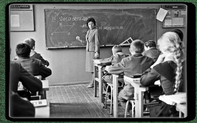 Inside a Soviet school