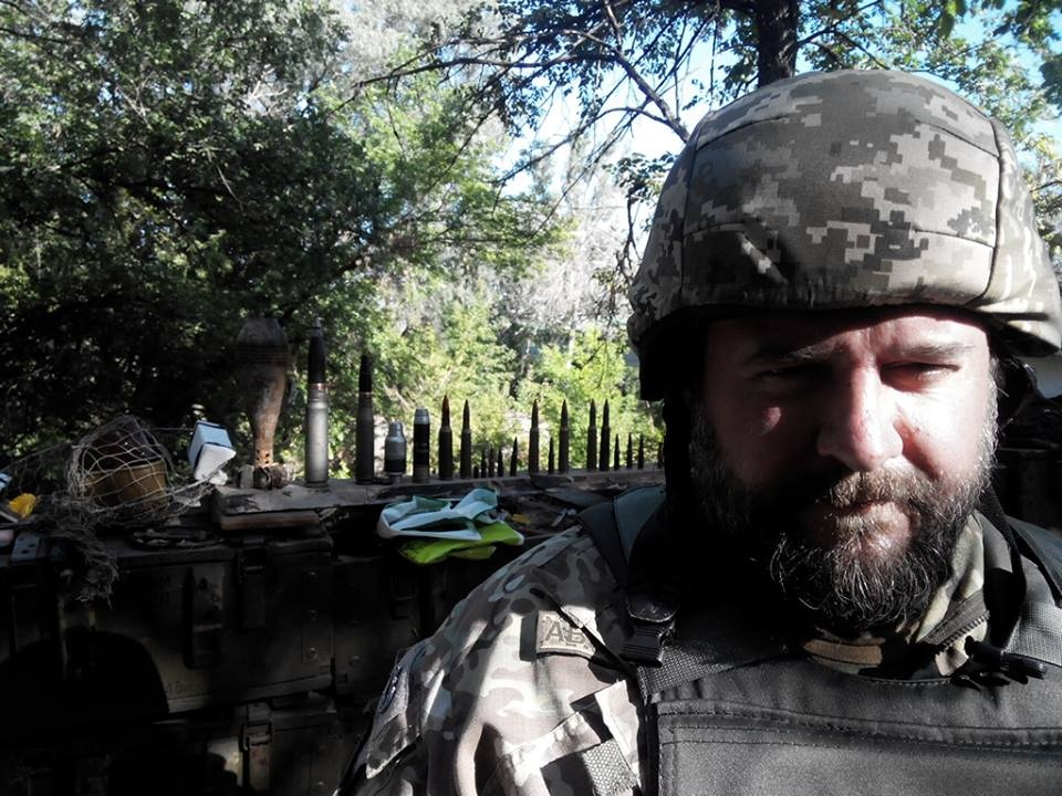 Chaplain Kostyantyn on the front lines