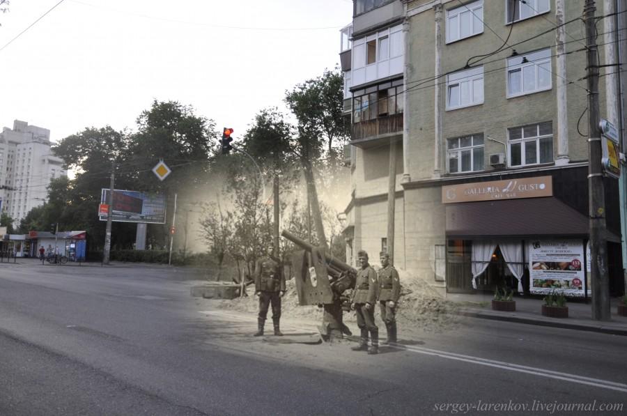 Kyiv 1941/2012 Melnykova Street. Collage: Sergey Larenkov (Livejournal)
