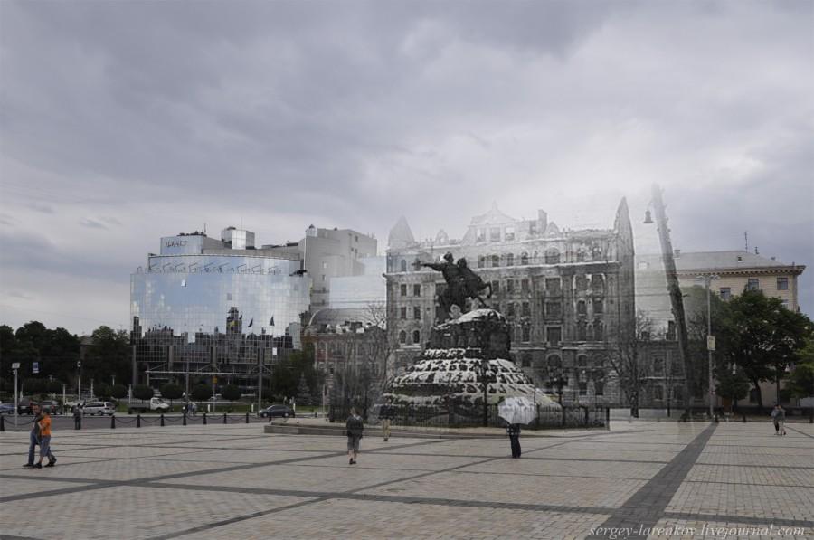 Kyiv 1943/2012. Sofiiska Square. Collage: Sergey Larenkov (Livejournal)