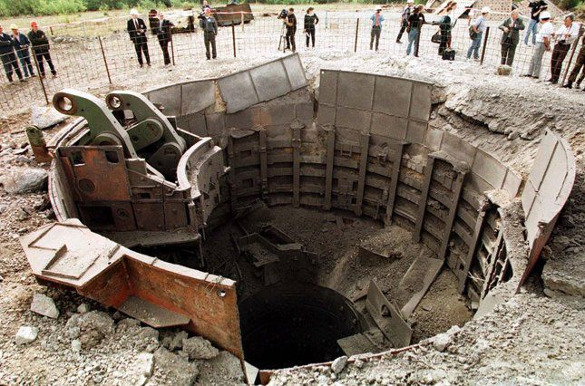 Destroyed missile launch facility (underground missile silo)