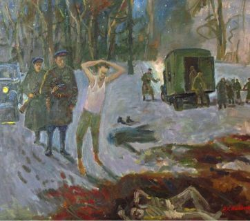 'NKVD Killing Ground in Butovo' by Egils Veidemanis. Butovo was a former estate south of Moscow taken over by the secret police after the revolution and used as an agricultural colony, shooting range and site for executions and mass graves. The executions took place here from 1935 to 1953, but mostly in the years of Stalin's Great Terror in 1937 and 1938. Butovo Shooting Range is known as Moscow's main killing field.