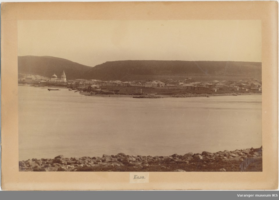 Kola settlement of Kola Norwegians, aka Kolanordmenn. Picture taken on 28 December 1886 (Image: Varanger Museum)
