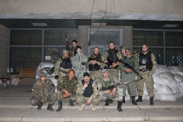 Local militiamen in occupied Luhansk. Photo: ivan777lapshin