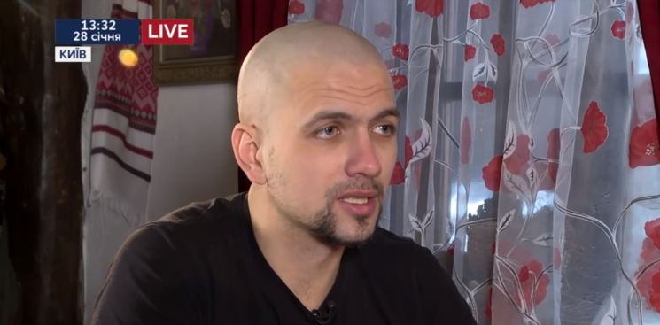 Civilian resident of Debaltseve Ihor Yakovenko who spent more than 28 months in captivity. Screenshot: Youtube/112 Ukraine