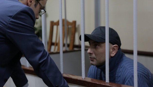 Andriy Zakhtey during one of the court hearings. Photo: zona.media