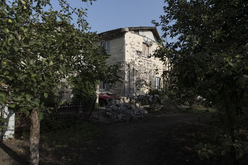 The outside of Lebedev's home.
