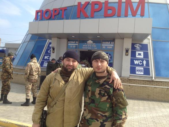 """A profile photo by driver of automobile squad of the supply platoon of the special operations battalion Ilyas Midaev. Port """"Krym,"""" 2014."""