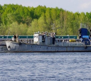 "The latest acquisition of the Ukrainian Navy (acquired in July 2018), Diver Support Boat ""Yauza"" was built in 1983 and until now was used by the Kremenchuk City Diving and Life Guard Station (Image: dsnews.ua)"