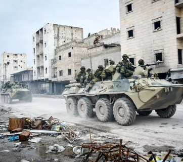 Russian troops in Aleppo, Syria (Image: Wikimedia)