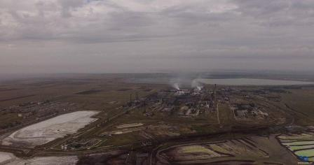 Aerial view of the Crimean Titan plant, archive photo. Source: Dronarium Ukraine
