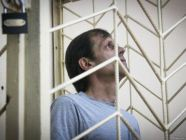 Volodymyr Balukh, a Ukrainian political prisoner convicted to five years in prison for displaying a Ukrainian flag in occupied Crimea and sent to Russia to serve the term.