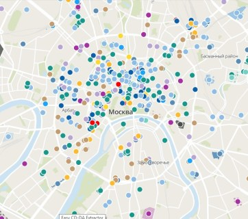 A screen capture of the interactive map of GULAG facilities in Moscow published by the Memorial organization at http://topos.memo.ru (Screen capture by Euromaidan Press)