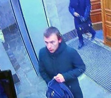 A picture from FSB building security video footage shows the 17-year-old male in the FSB regional offices in the city of Arkhangelsk, Russia shortly before the blast. (Photo: tass.ru)