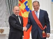 Vladimir Putin awarding Sergey Lavrov at the Kremlin, Moscow, Russia. May 21, 2015 (Photo: Wikimedia Commons)