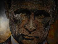 Ukrainian artist Dariya Marchenko created a portrait of Russian President Vladimir Putin from 5,000 spent shell cases collected from location of battles in Russia's aggressive war in the Donbas. Photo: dashart.com.ua