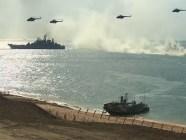 Russian large-scale military drills in occupied Crimea. Fall 2016. Screenshot: CNN