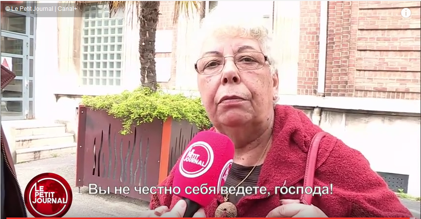 """Vous êtes malhonnête, Monsieur!"" French interviewees were not amused when they were confronted with Rossiya 24's mistranslations of what they had said on camera."