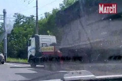 Photograph from Paris Match of the Buk missile launcher in Donetsk, Ukraine, 17 July 2014. Source: bellingcat