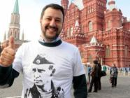 Matteo Salvini wearing a Putin t-shirt in Moscow (Photo: social media)