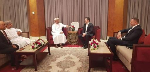 Zelenskyy meeting with the Executive President of the State General Reserve Fund. This photo shows that Andriy Yermak, advisor to Zelenskyy was also present in Oman with the president.