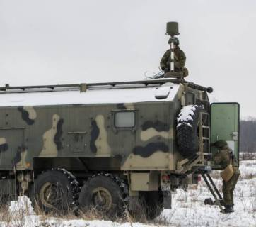 Russian Leer-3 Electronic Warfare Station (Source: Twitter)