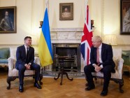 Volodymyr Zelenskyy and Boris Johnson meeting in London, 7 October 2020 (Photo: president.gov.ua)