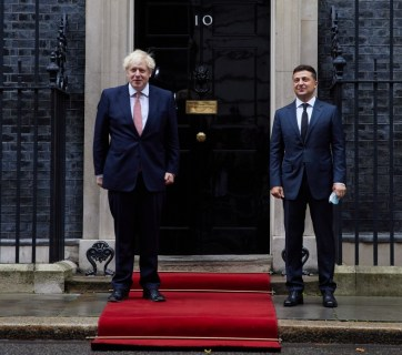 UK PM Johnson and Ukraine's President Zelenskyy on October 7 (Source: President.gov.ua)