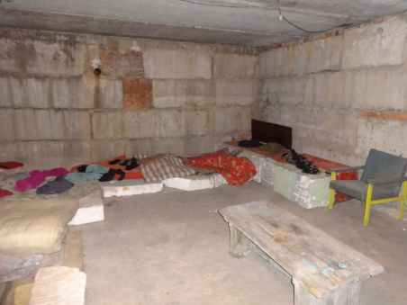 Inside a prisoner cell at Izolyatsia, Donetsk. Photo: Telegram/traktorist_dn