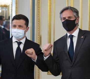 Ukrainian President Volodymyr Zelenskyy (left) and US Secretary of State Antony Blinken, Kyiv, May 6, 2021. Source: president.gov.ua