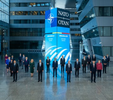 Official Portrait of NATO Allies at the NATO Summit in Brussels, June 14, 2021 (Source: nato.int)