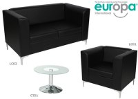 Black Leather Chair - Single Chair