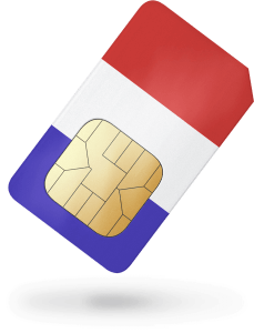 Triple format French prepaid SIM – incl. 125min of airtime