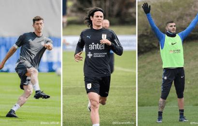 """El Real Madrid baraja varios candidatos para fichar un """"9"""": Cavani, Icardi y Lewandowski"""