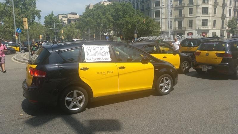 Huelga de Taxis en Barcelona contra Uber y Cabify
