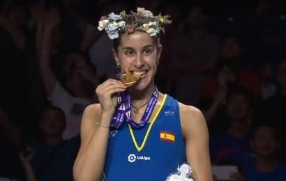Carolina Marín hace historia tras lograr su tercer título mundial de bádminton